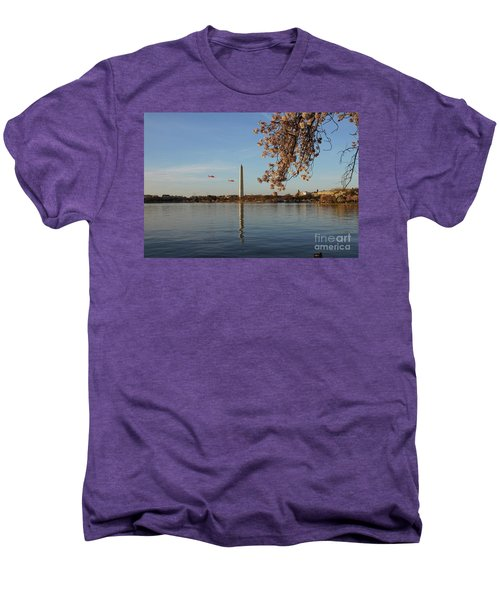 Washington Monument Men's Premium T-Shirt by Megan Cohen