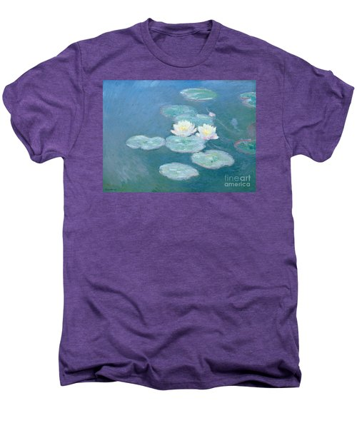 Waterlilies Evening Men's Premium T-Shirt