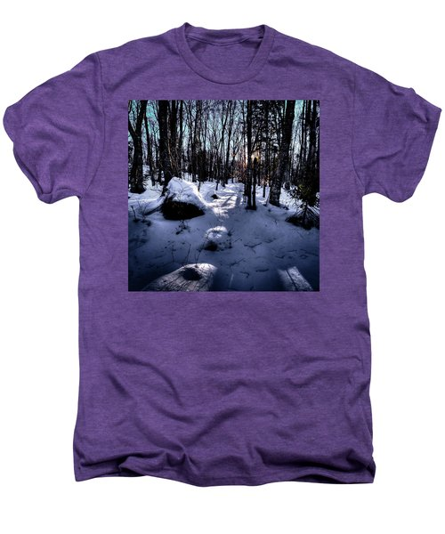 Men's Premium T-Shirt featuring the photograph Winters Shadows by David Patterson
