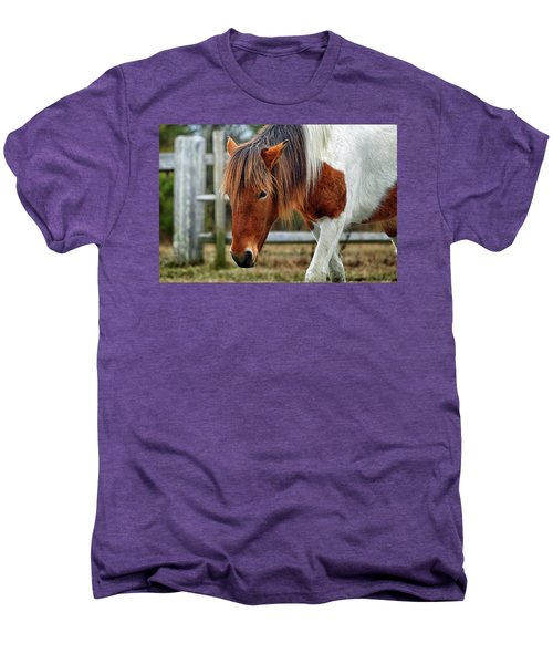 Men's Premium T-Shirt featuring the photograph Assateague Wild Horse Susi Sole N2bhs-m by Bill Swartwout Fine Art Photography