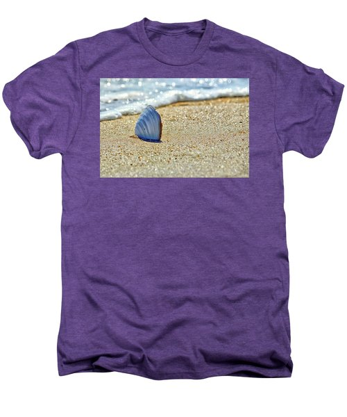 Men's Premium T-Shirt featuring the photograph Clamshell On The Beach At Assateague Island by Bill Swartwout Fine Art Photography