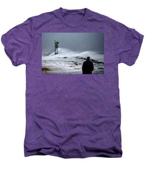 Men's Premium T-Shirt featuring the photograph Hurricane Watch by Bill Swartwout Fine Art Photography