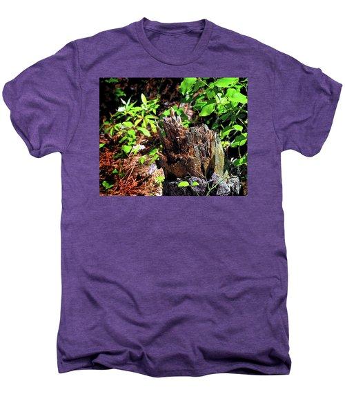 Men's Premium T-Shirt featuring the photograph Stumped On Assateague Island by Bill Swartwout Fine Art Photography