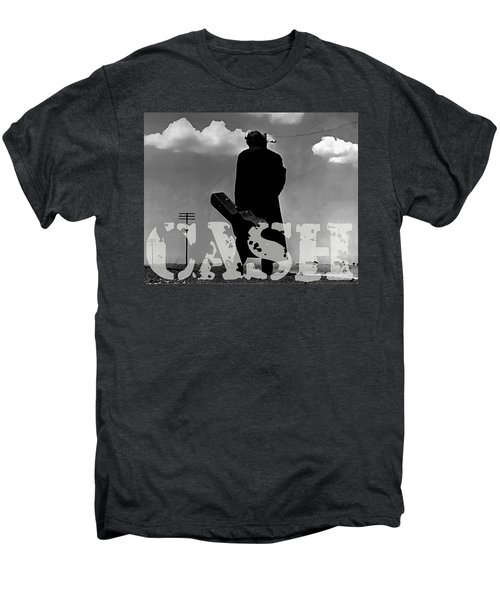 Men's Premium T-Shirt featuring the mixed media Johnny Cash by Marvin Blaine