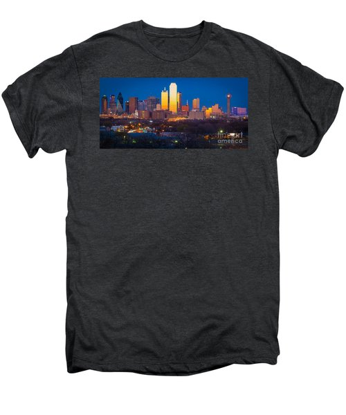 Dallas Skyline Men's Premium T-Shirt by Inge Johnsson