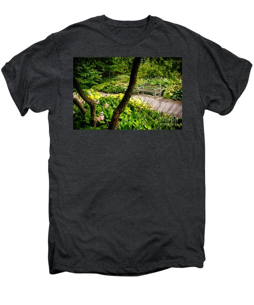 Garden Bench Men's Premium T-Shirt by Joe Mamer