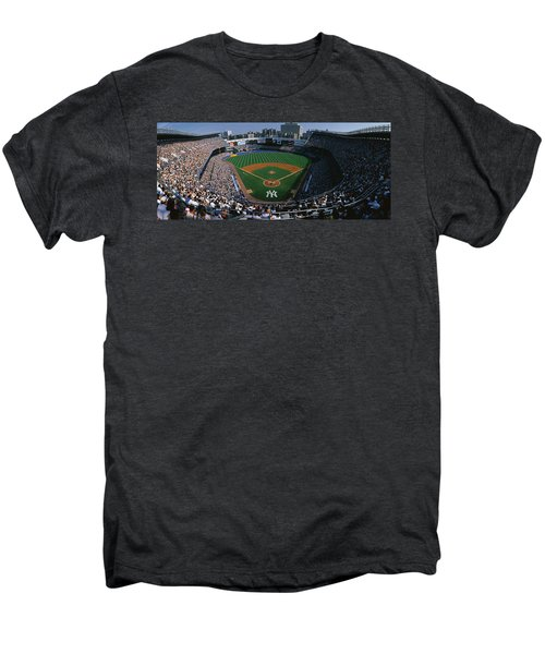 High Angle View Of A Baseball Stadium Men's Premium T-Shirt