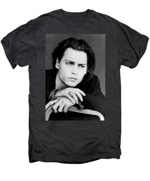 Johnny Depp Men's Premium T-Shirt by Karon Melillo DeVega