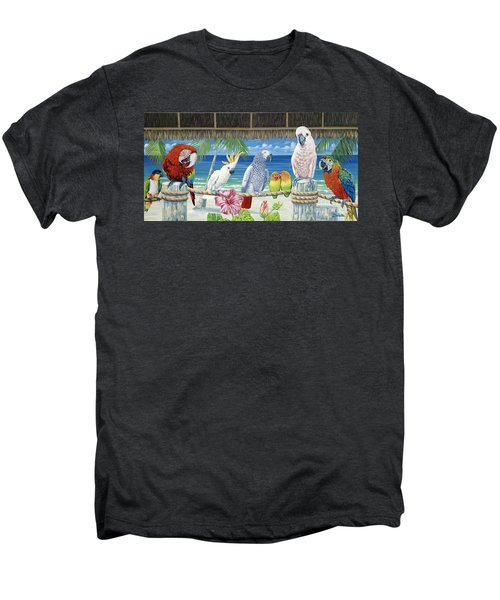 Parrots In Paradise Men's Premium T-Shirt by Danielle  Perry