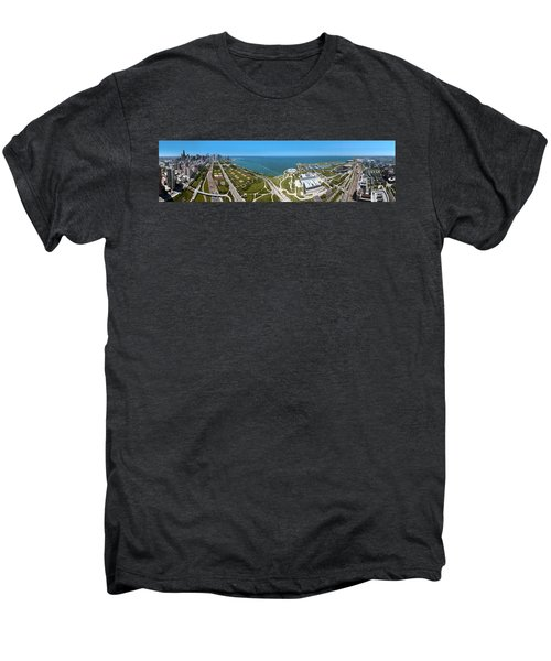 180 Degree View Of A City, Lake Men's Premium T-Shirt by Panoramic Images