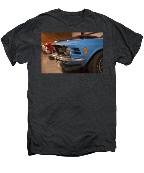 1970 Mustang Mach 1 And Other Classics Hidden In A Garage Men's Premium T-Shirt