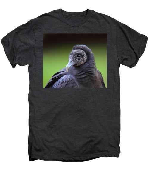 Black Vulture Portrait Men's Premium T-Shirt