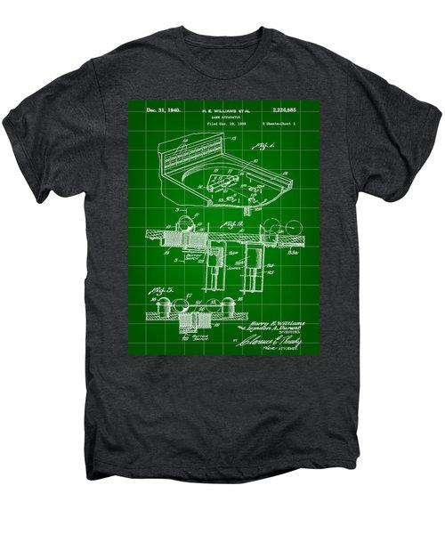 Pinball Machine Patent 1939 - Green Men's Premium T-Shirt by Stephen Younts