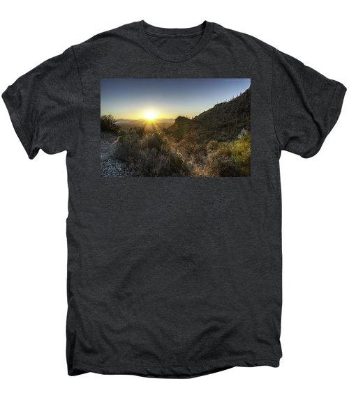 Winter Sunset Men's Premium T-Shirt by Lynn Geoffroy