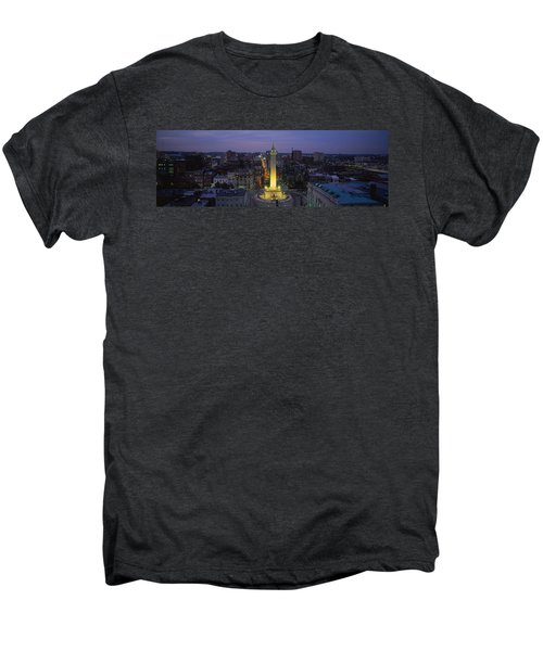 High Angle View Of A Monument Men's Premium T-Shirt