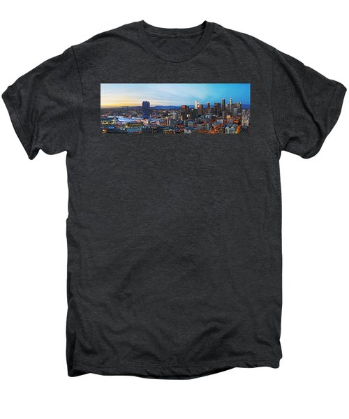 Los Angeles Skyline Men's Premium T-Shirt by Kelley King