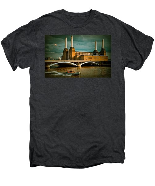 Pink Floyd Pig At Battersea Men's Premium T-Shirt by Dawn OConnor