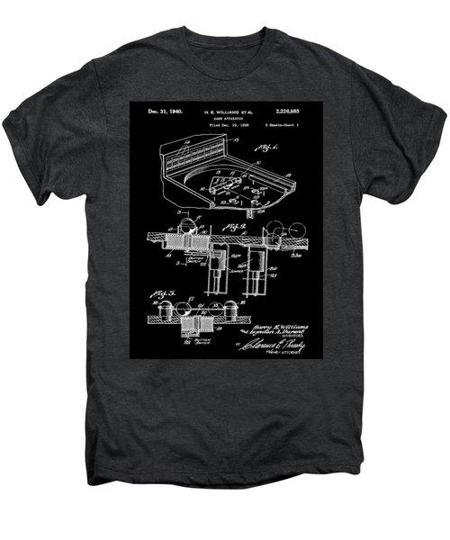 Pinball Machine Patent 1939 - Black Men's Premium T-Shirt by Stephen Younts