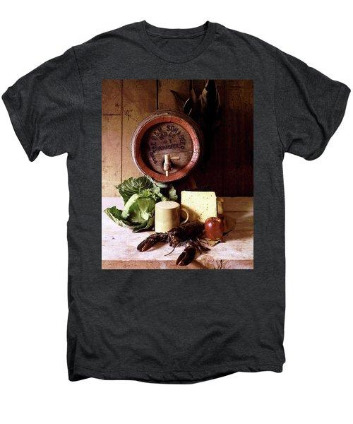 A Barrel Of Beer Men's Premium T-Shirt by N. Courtney Owen
