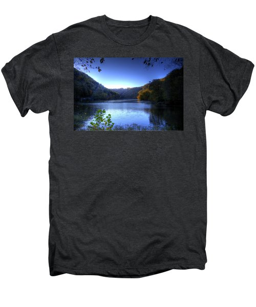 A Blue Lake In The Woods Men's Premium T-Shirt