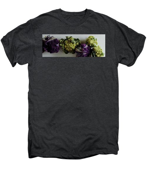 A Group Of Cauliflower Heads Men's Premium T-Shirt by Romulo Yanes