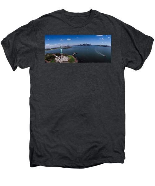 Aerial View Of A Statue, Statue Men's Premium T-Shirt