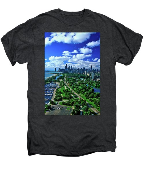 Aerial View Of Chicago, Illinois Men's Premium T-Shirt
