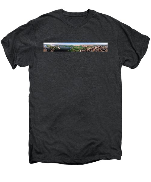 Aerial Washington Dc Usa Men's Premium T-Shirt by Panoramic Images