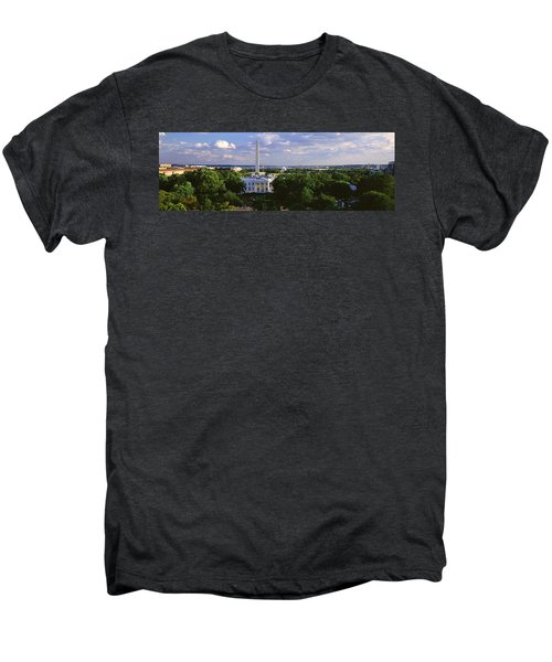 Aerial, White House, Washington Dc Men's Premium T-Shirt by Panoramic Images