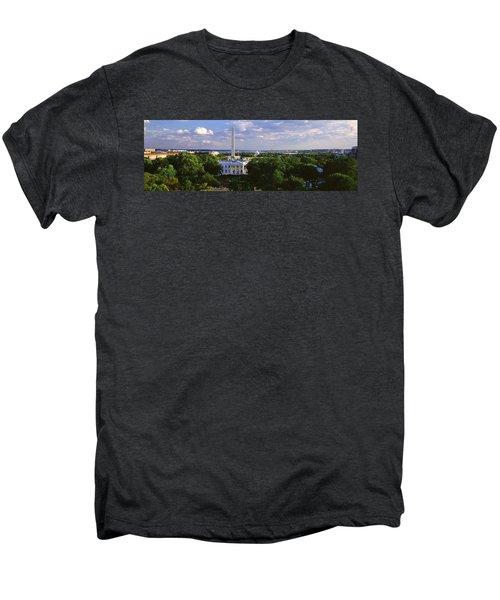Aerial, White House, Washington Dc Men's Premium T-Shirt