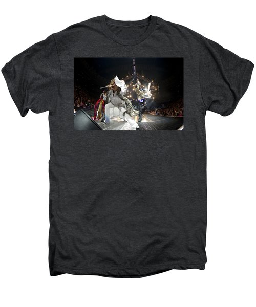 Aerosmith - On Stage 2012 Men's Premium T-Shirt by Epic Rights