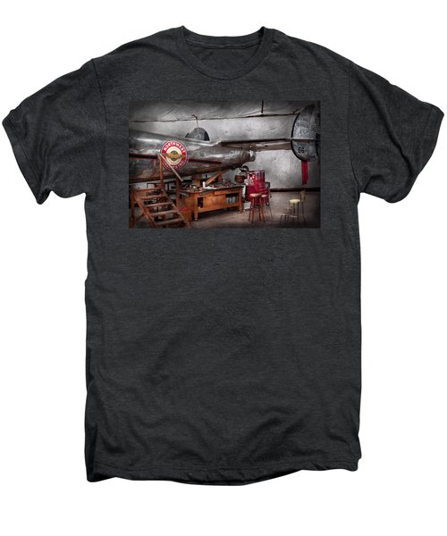 Airplane - The Repair Hanger  Men's Premium T-Shirt