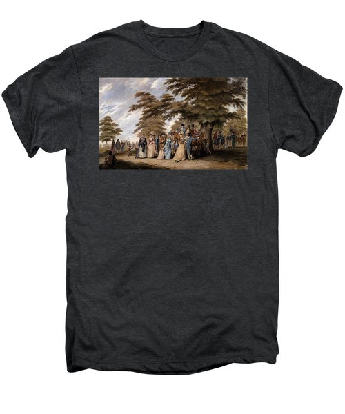 An Airing In Hyde Park, 1796 Men's Premium T-Shirt by Edward Days