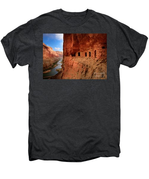 Anasazi Granaries Men's Premium T-Shirt by Inge Johnsson