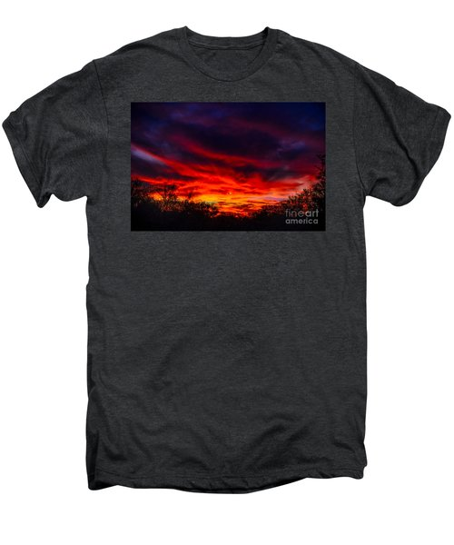 Men's Premium T-Shirt featuring the photograph Another Tucson Sunset by Mark Myhaver