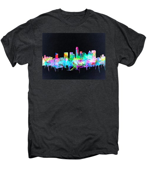 Austin Texas Skyline Watercolor 3 Men's Premium T-Shirt