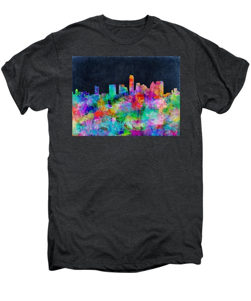 Austin Watercolor Panorama Men's Premium T-Shirt