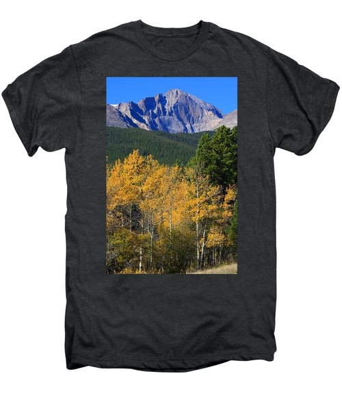 Autumn Aspens And Longs Peak Men's Premium T-Shirt