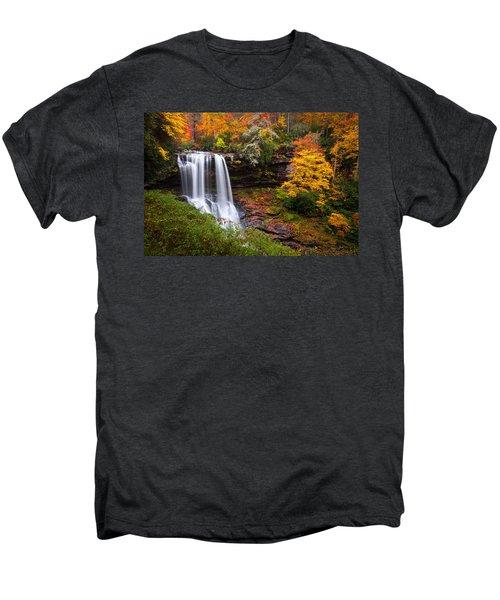 Autumn At Dry Falls - Highlands Nc Waterfalls Men's Premium T-Shirt