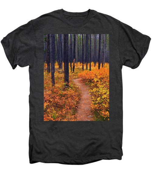 Autumn In Yellowstone Men's Premium T-Shirt