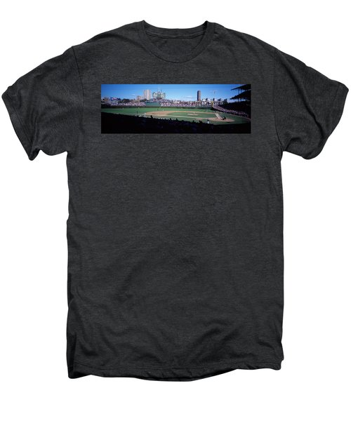 Baseball Match In Progress, Wrigley Men's Premium T-Shirt by Panoramic Images