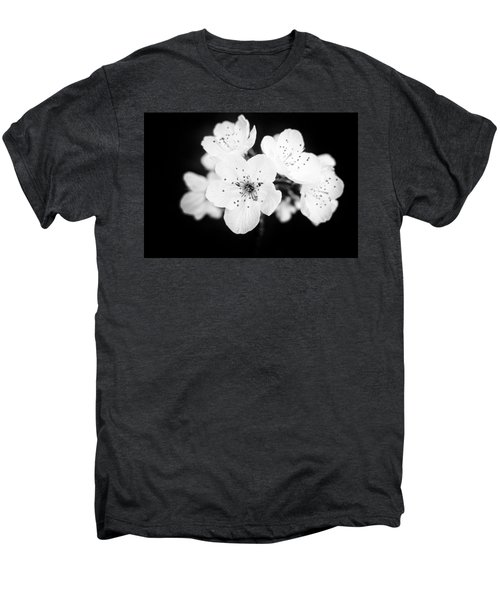Beautiful Blossoms In Black And White Men's Premium T-Shirt