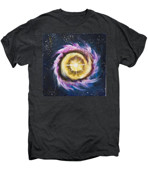 Men's Premium T-Shirt featuring the painting Birth Of A Star by Yulia Kazansky