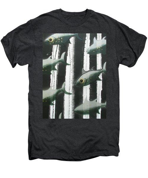 Black And White Fish Men's Premium T-Shirt