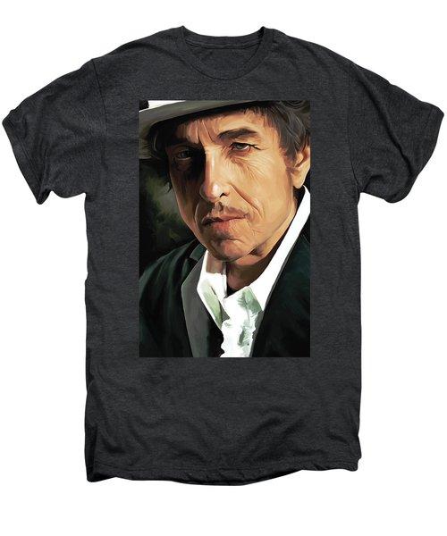 Bob Dylan Artwork Men's Premium T-Shirt by Sheraz A