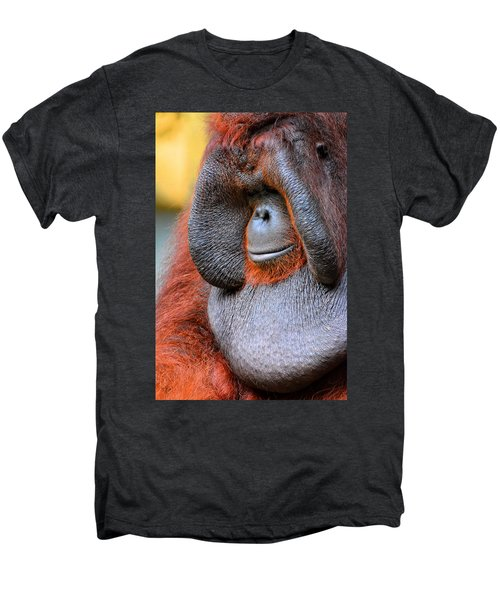 Bornean Orangutan Vi Men's Premium T-Shirt by Lourry Legarde