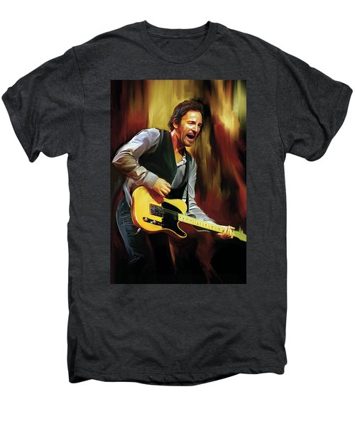 Bruce Springsteen Artwork Men's Premium T-Shirt by Sheraz A