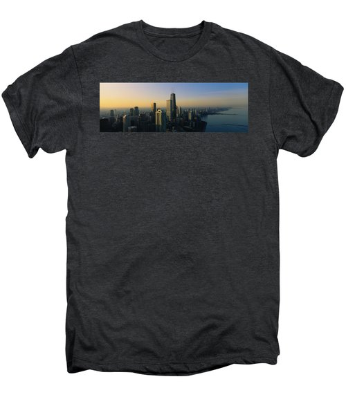 Buildings At The Waterfront, Chicago Men's Premium T-Shirt by Panoramic Images