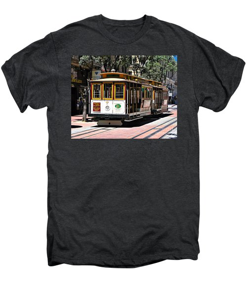 Cable Car - San Francisco Men's Premium T-Shirt