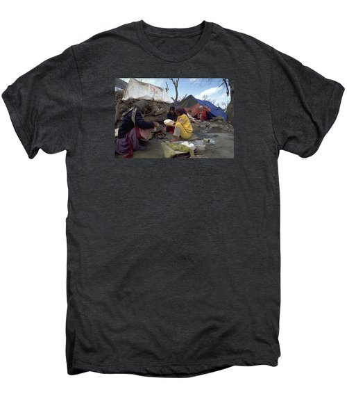 Men's Premium T-Shirt featuring the photograph Camping In Iraq by Travel Pics
